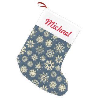 Snowflake Xmas Small Christmas Stocking