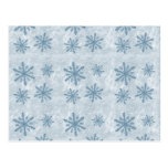 Snowflakes 1 - Blue - Post Cards