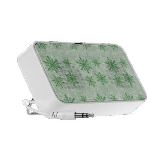 Snowflakes 1 Green - Mini Speakers