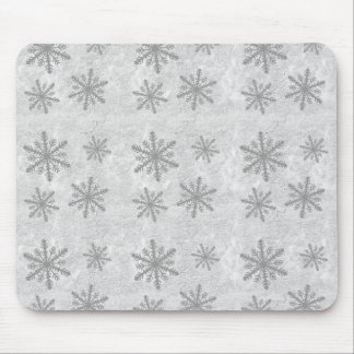 Snowflakes 1 - Grey B&W Mouse Pad