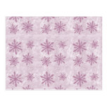 Snowflakes 1 - Pink - Post Card