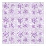 Snowflakes 1 - Purple Personalized Announcement