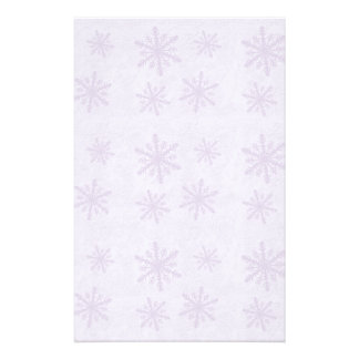 Snowflakes 1 - Purple Stationery