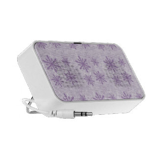 Snowflakes 1 - Purple Travelling Speakers