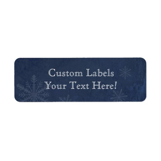 Snowflakes 4 - Original Dark Blue Custom Labels