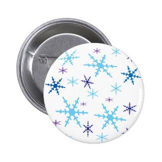 Snowflakes 6 Cm Round Badge