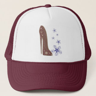 Snowflakes and Christmas Stiletto Shoe Art Gifts Trucker Hat