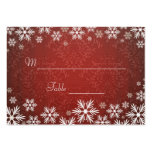Snowflakes and Red Damask Wedding Place Setting