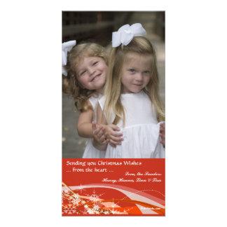 Snowflakes and Ribbons Photo Card