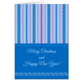 Snowflakes and Stars. New Year pattern. Card
