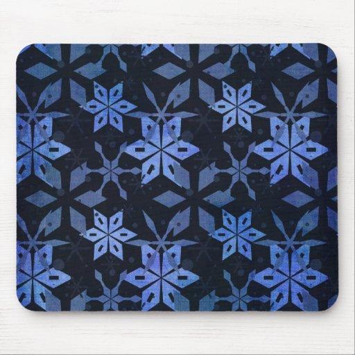 Snowflakes at Night Winter Holiday Gifts Mouse Pad