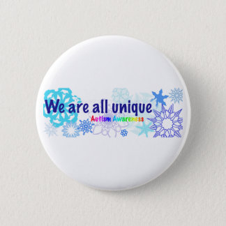 snowflakes_autism 6 cm round badge