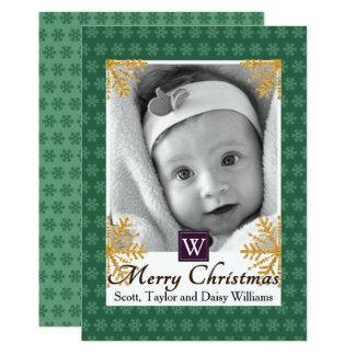 Snowflakes Background Christmas Photo Card 13 Cm X 18 Cm Invitation Card