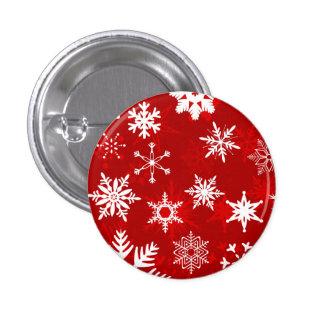 Snowflakes 3 Cm Round Badge