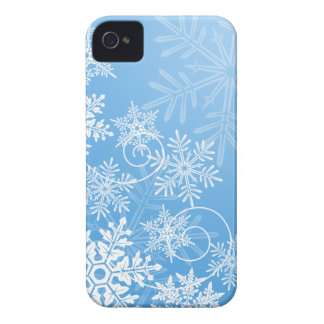Snowflakes Barely There Case-Mate iPhone 4 Case