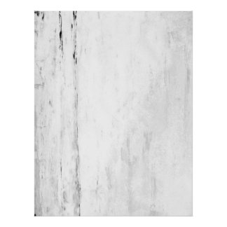 'Snowflakes' Black and White Abstract Art Poster