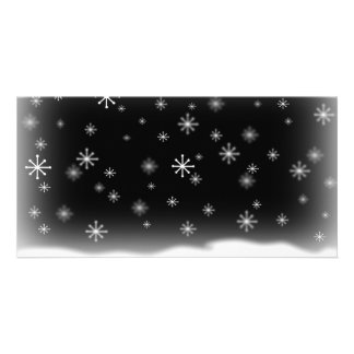 SNOWFLAKES BLACK CARD