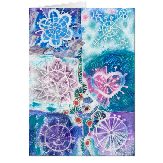 Snowflakes Blank Card