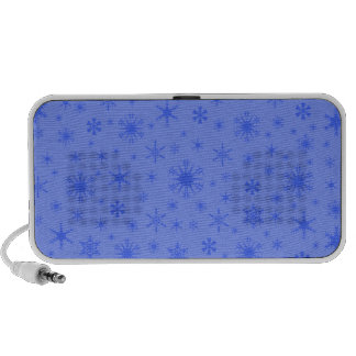 Snowflakes – Blue on Light Blue Notebook Speakers