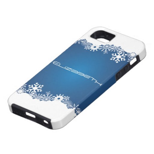 Snowflakes blue white winter iPhone iPhone 5 Case