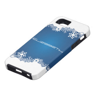 Snowflakes blue white winter iPhone Tough iPhone 5 Case