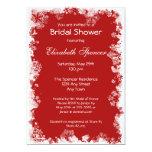 Snowflakes Bridal Shower Invitation 13 Cm X 18 Cm Invitation Card
