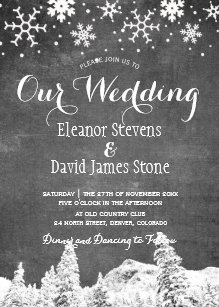 Chalkboard Wedding Invitations Announcements Zazzle Uk