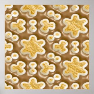 Snowflakes - Chocolate Marshmallow Poster