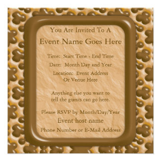 Snowflakes - Chocolate Peanut Butter Personalized Invitations