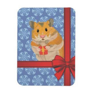 Snowflakes Christmas Hamster Magnet