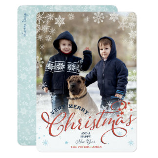 Snowflakes Christmas | Holiday Photo Card