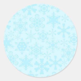 Snowflakes Classic Round Sticker