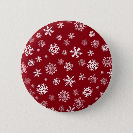 Snowflakes - customise with your favourite colour 6 cm round badge