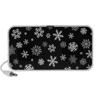 Snowflakes - customize with your favorite color iPod speaker