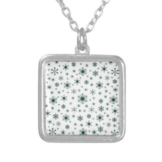Snowflakes – Dark Green on White Custom Jewelry