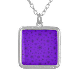Snowflakes – Dark Violet on Violet Pendant