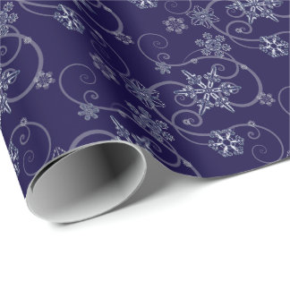 Snowflakes design wrapping paper
