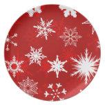 Snowflakes Dinner Plate