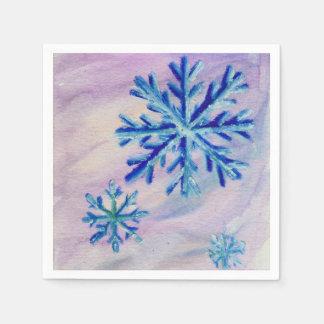 Snowflakes Disposable Serviettes