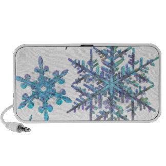 Snowflakes, embroidered look notebook speaker