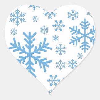 Snowflakes Falling, Flurries Heart Sticker
