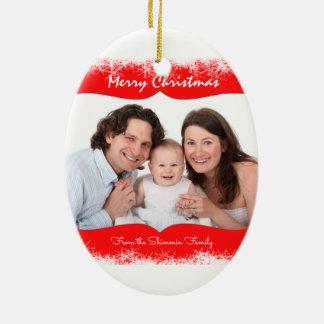 Snowflakes Family Ornament Your Photo
