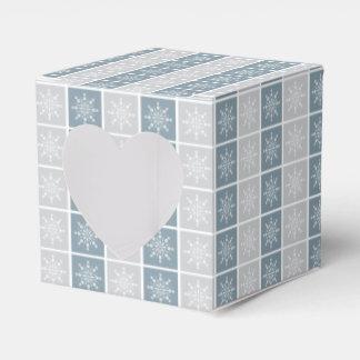 Snowflakes favor boxes wedding favour box