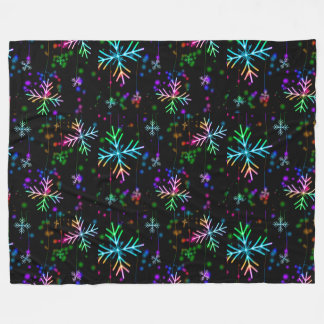 Snowflakes Fleece Blanket