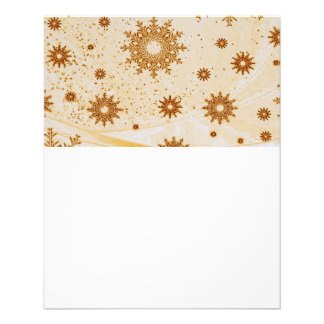 snowflakes gold full color flyer