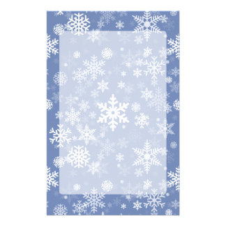 Snowflakes Graphic Customize Color Background on a Stationery