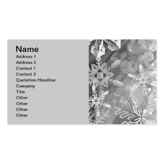 snowflakes gray greys winter digital realism layer business card templates