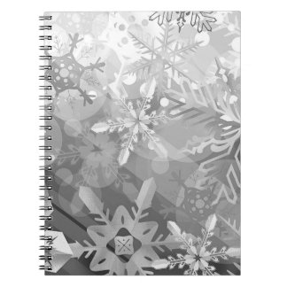 snowflakes gray greys winter digital realism layer note book