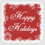Snowflakes Happy Holiday Stickers