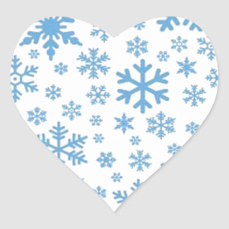 Snowflakes Heart Sticker